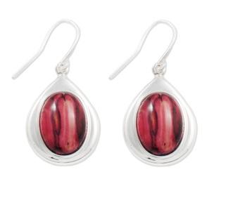 Silver Tear Drop Earrings with Heathergems HE11