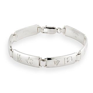 Silver History of Ireland Bracelet S5331