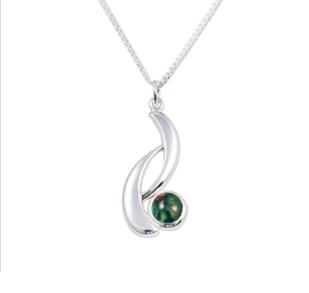 Silver Wishbone Pendant with Heathergem HP49
