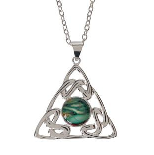 Trinity Knot Silver Plated Heathergem Pendant HP74