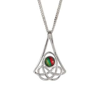 Celtic Silver Plated Heathergem Pendant HP76
