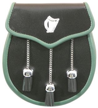 Irish Leather & Harp Sporran MSI-1010