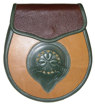 Tan Claddagh Sporran MSI-1045
