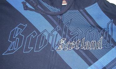Scotland Printed Lines Front Zip Hooded Sweatshirt S3928HS