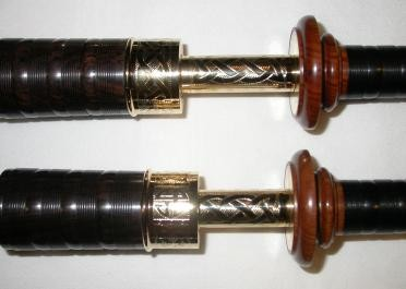 McCallum AB4 Bagpipes Mopani Mounts Gold Celtic