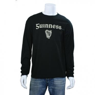 Guinness Gaelic Label Long Sleeve Shirt Front