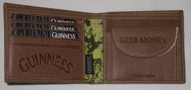 Guinness Brown Leather Wallet 02539