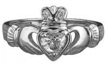 Matching Diamond Claddagh Ring