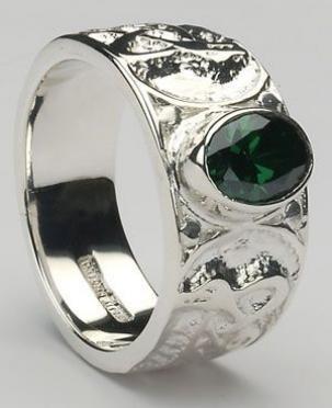 Mens Celtic Ring Stone Set CTR1SS