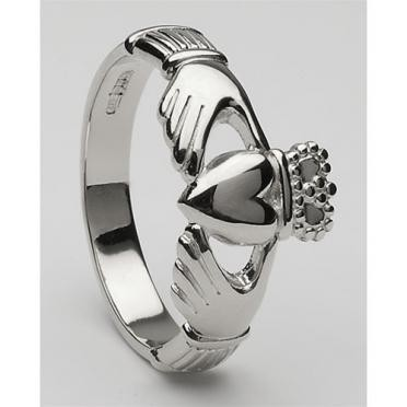 Mens Claddagh Ring Large CLAD6H