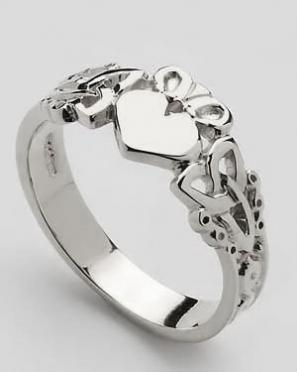 Mens Claddagh Heart Trinity Knot Shank CLAD37