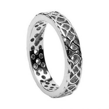 Ladies Pierced Knot Band WED173