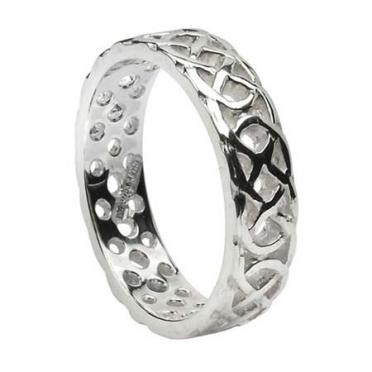 Mens Pierced Knot Band WED174