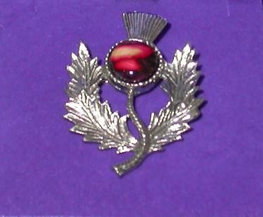 Heather Gem Thistle Brooch CHB1
