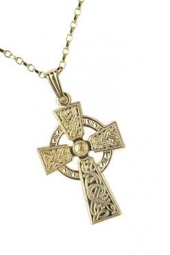 Celtic Warrior Shield Cross WC2 Gold