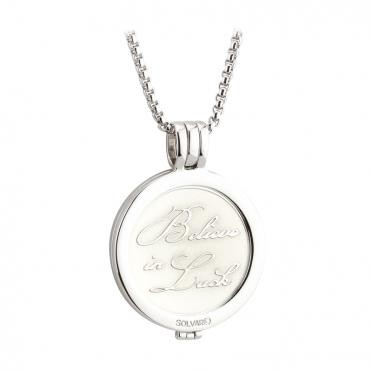 Crystal Shamrock Coin Pendant S45793