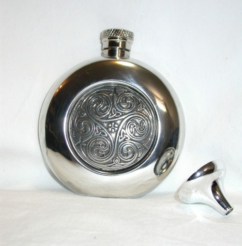 Celtic Pewter Hip Flask CEL196