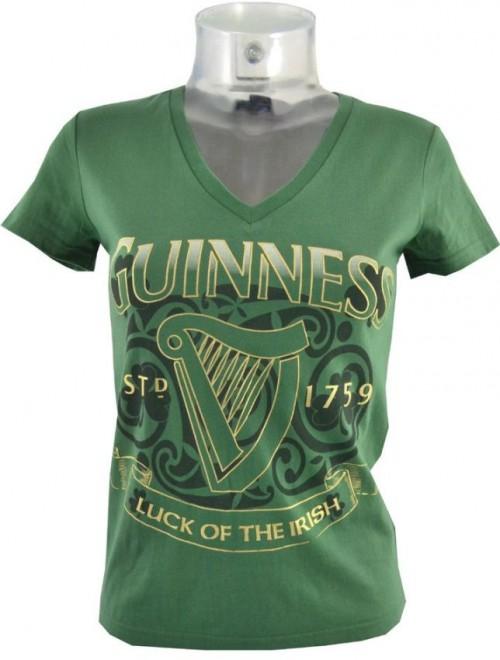 Guinness Ladies Luck of the Irish Shirt G4153