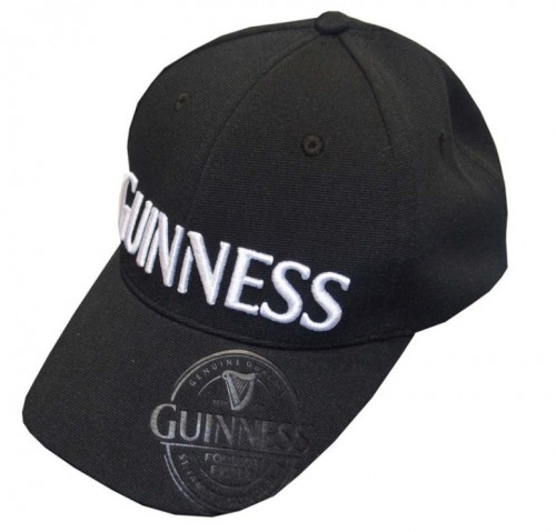 Guinness Black Embossed Cap G6186