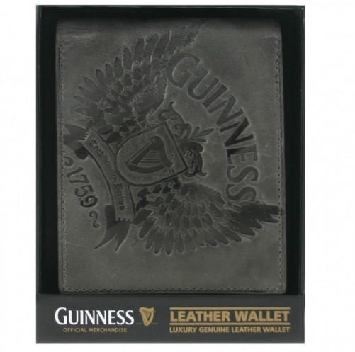 Guinness Grey Leather Wallet 02546