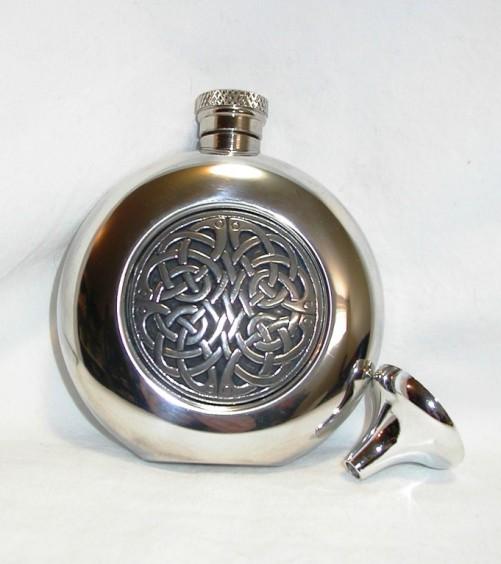 Celtic Pewter Hip Flask CEL193