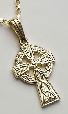 Small 2 Sided Cross C68 Gold