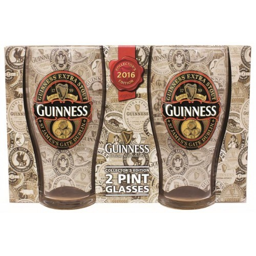 Guinness 2016 Collector's Edition Pint Glass 2 Pack