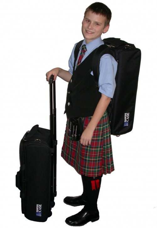 With Wheeled Case and Backpack