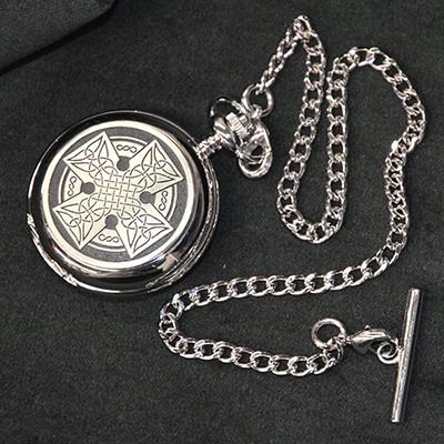Celtic Cross Mechanical Pocket Watch