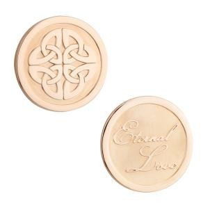 Rose Gold Plated Celtic Knot Coin S80396