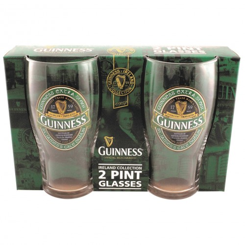 Guinness Green Ireland Collection Pint Glass Set