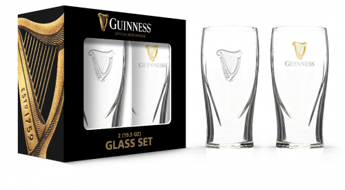 Guinness Embossed Pint Glass Pack GD16052PB