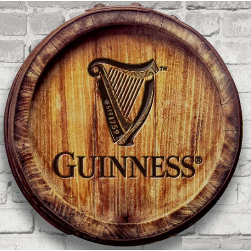 Guinness 3D Barrel Wall Art WDS170007