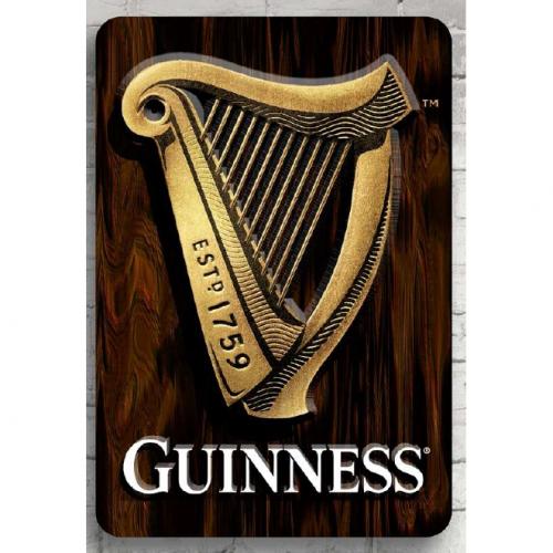Guinness 3DHarp Wall Art WDS170005