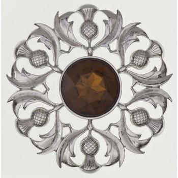 Scottish Thistle Plaid Brooch