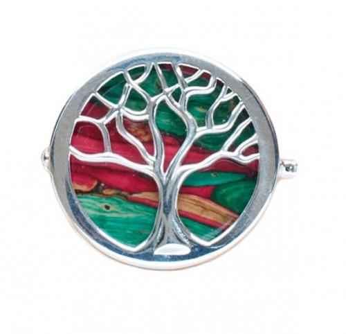 Heather Gem Brooch Tree of Life HB79