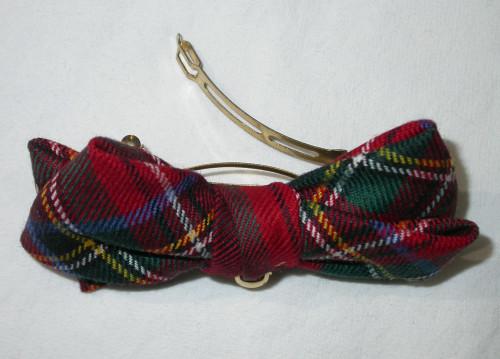 Royal Stewart Modern Tartan Hair Clip with Bow