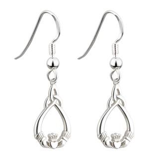 Claddagh Trinity Drop Earrings s33178
