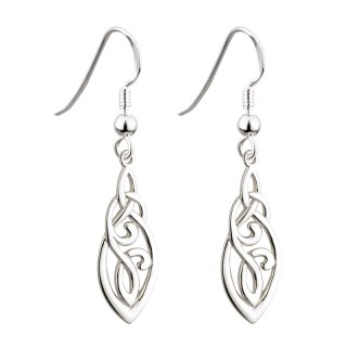 Trinity Celtic Drop Earrings s33424