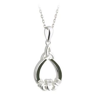 Connemara Marble Claddagh Pendant s45276