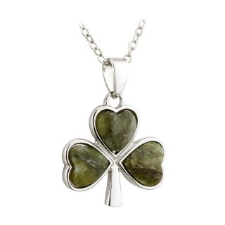 Connemara Marble Shamrock Pendant s45510