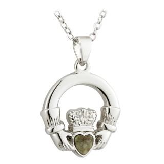 Connemara Marble Claddagh Pendant S45511