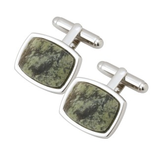 Rectangle Connemara Marble Cufflinks s6494