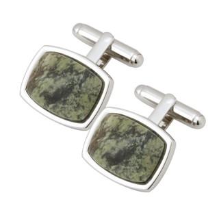 Rectangle Connemara Marble Cufflinks s6494