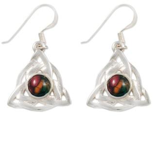 Celtic Triangle Sterling Silver Heather Earrings SE32