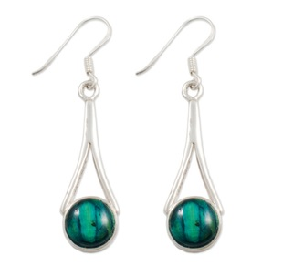 Silver Drop Heathergem earrings SE42