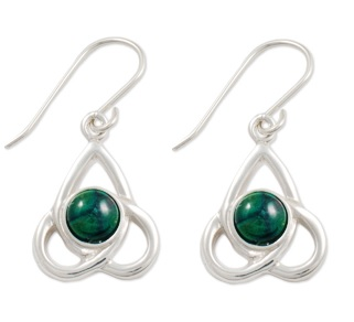 Celtic Drop Silver Heather Earrings SE45