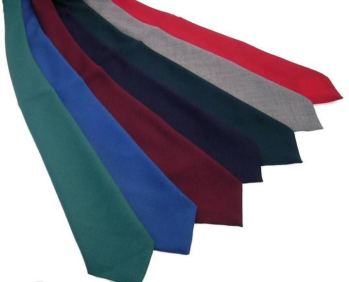 Solid Color Wool Tie