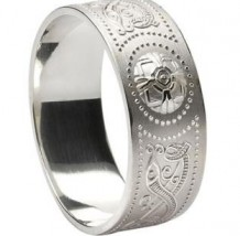 Mens Extra Wide Celtic Warrior Shield Band WED34