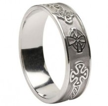 Mens Celtic Cross Band WED265